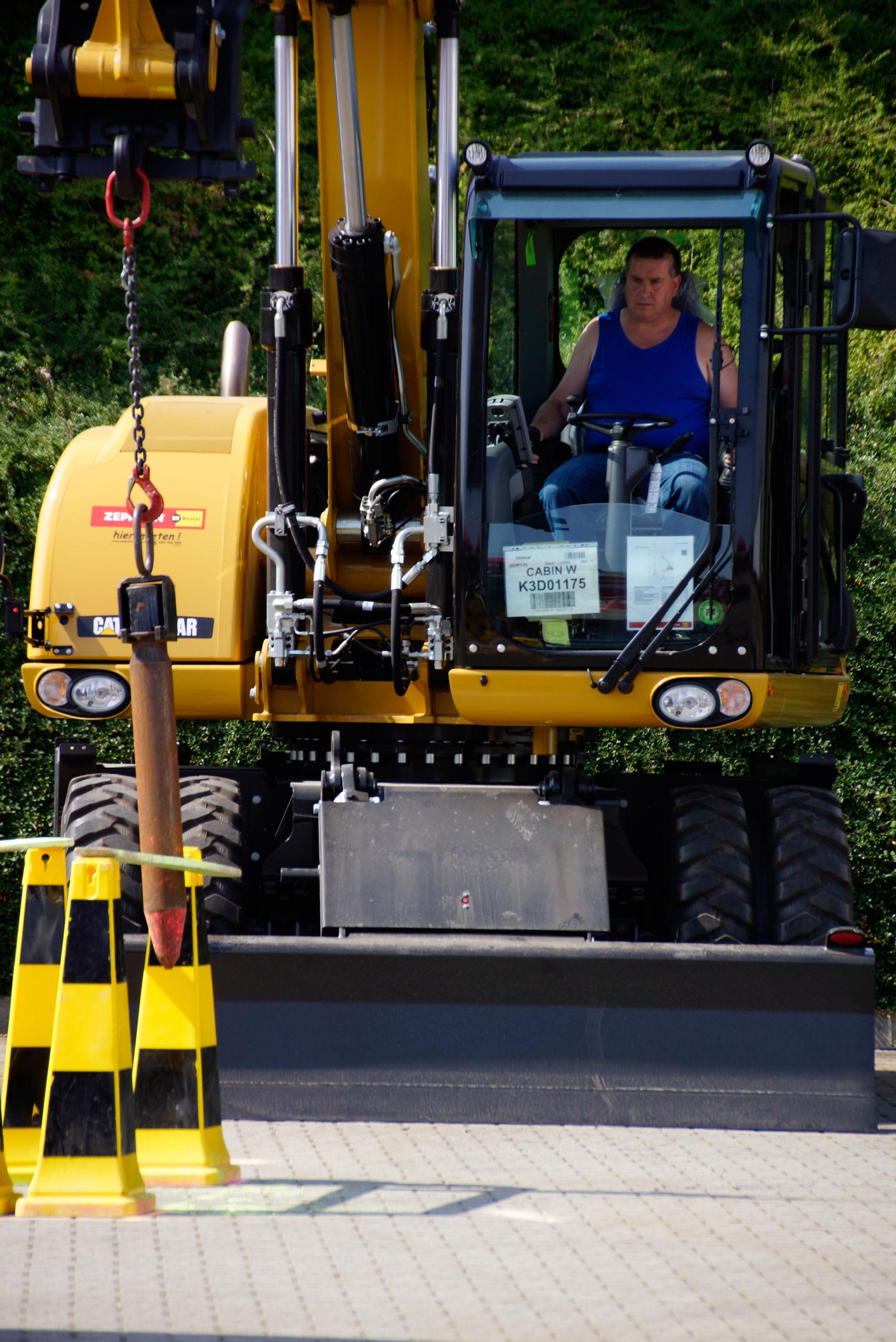 Baumaschinen-Profis wurden bei der Fahrermeisterschaft herausgefordert.