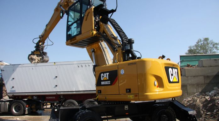 2017, Klick mit der Entsorgung, AREC Abfall Recycling GmbH, Umschlagbagger Cat MH3022