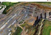2017, Rohstoffabbau digitalisieren, 3D-Ansicht des Steinbruchs