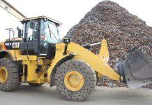 2017, Immer in Bewegung, Cat Radlader 950M, Recyclingumschlag