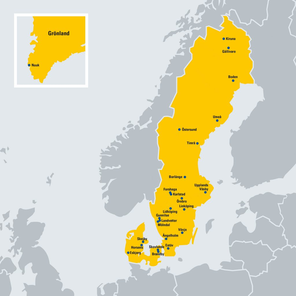Karte Zeppelin Sweden Denmark