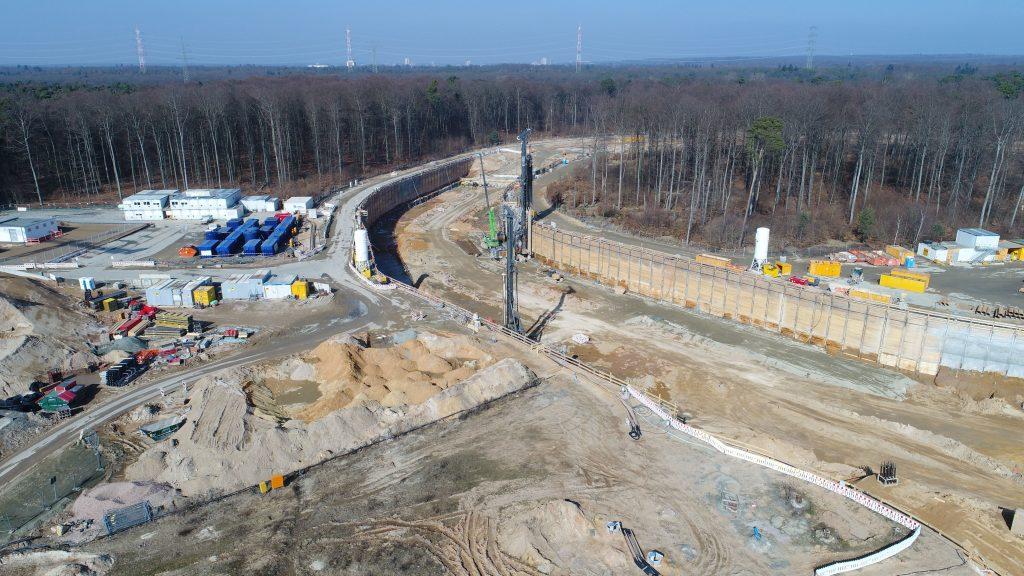 Richtung Baugrube des SIS100-Tunnels