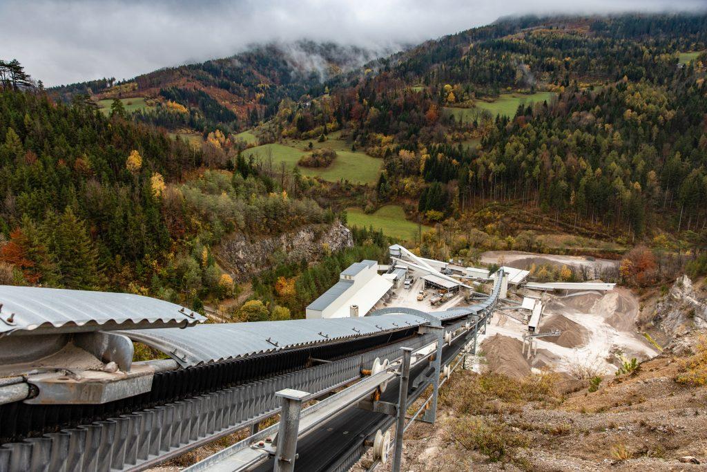 Materialseilbahn in Österreich